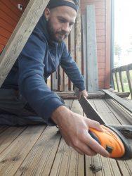 Altmuligmannen i Tromsø hjelper med oppussing i ditt hjem, sliper, pusser, sparkler og maler vegger og gulv